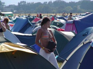 Finding Your Tent in the Dark at Music Festivals