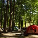 Camping at Powell River, British Columbia