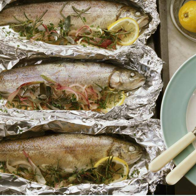 Cooking with tin foil camping recipes for Grill fish in foil