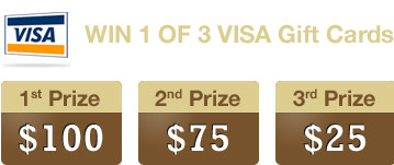 First prize is $100,  second prize is $75 and third prize $25