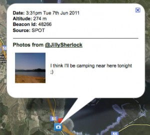 """I think I'll be camping near here tonight."" @JillySherlock posting a picture on Social Hiking"