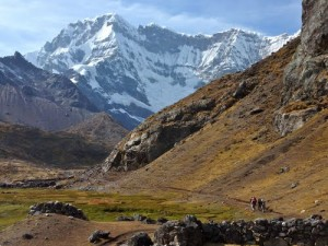 Camp at Peru's Big Red Lake on the Ausangate Circuit
